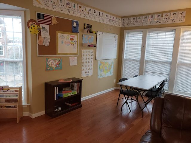 Simple Homeschool Classroom