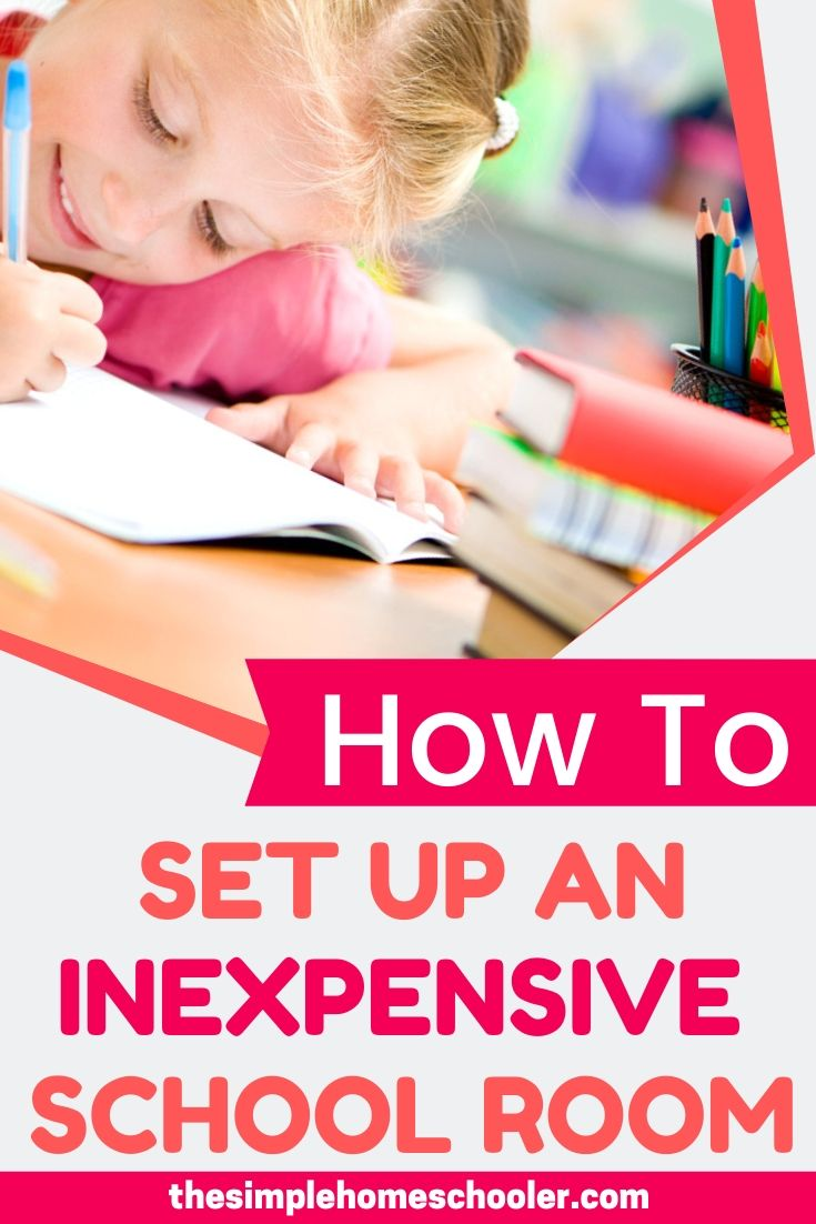 It can be overwhelming to think of setting up a homeschool room in your house - it doesn't have to be! Let me show you how simple it really can be to setup - especially if you you are working on a budget and only have a small space!