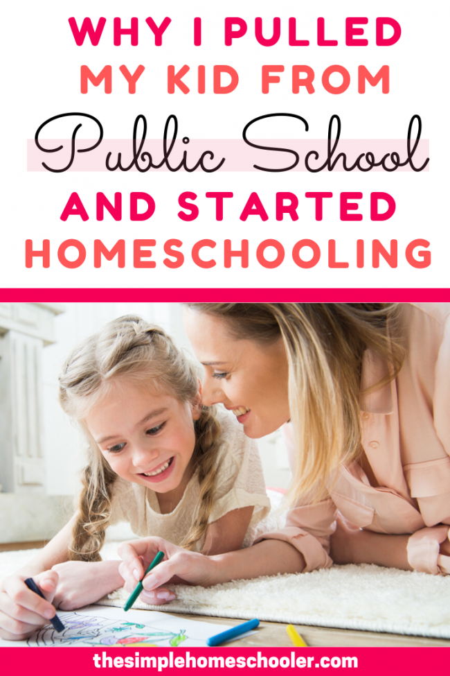 Not sure about whether you should homeschool your kids? Can't figure out what is best for them and your family? I never, ever saw myself as a homeschooling mom either! But these reasons pushed me to make the leap, pull my kid from public school, start homeschooling, and never look back.