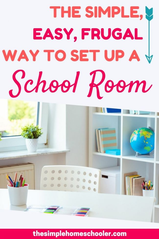 It can be overwhelming to think of setting up a homeschool room in your house - it doesn\'t have to be! Let me show you how simple it really can be to setup - especially if you you are working on a budget and only have a small space!