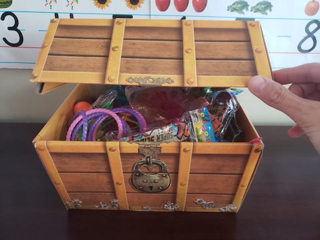 treasure chest to motivate homeschoolers