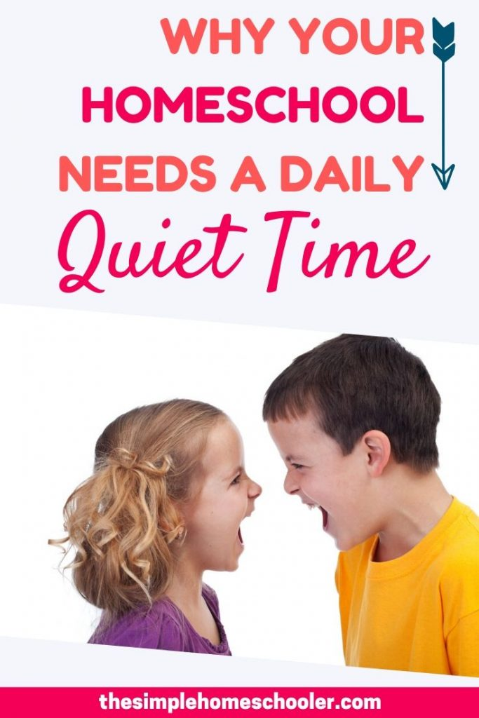 A daily Quiet Time has so many benefits for all ages - For mom and for kids! Let me give you 6 practical reasons to make Quiet Time a priority in your homeschool routine. It has been a part of our homeschool schedule for years and I think you'll be surprised how this simple tip can change your day
