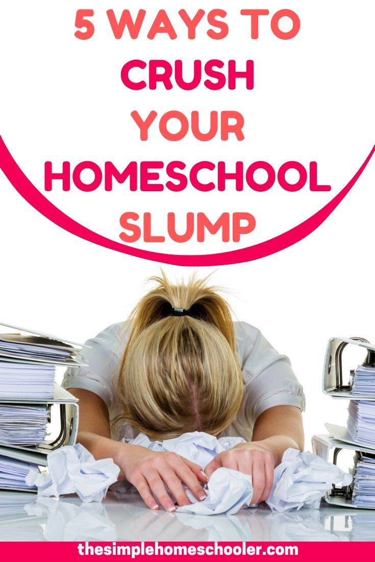 Are you struggling with a homeschool slump? Feeling blah, unmotivated and bored? Kids not having fun anymore? Just waiting for the year to be over? You need to shake things up! Check out these 5 tips to get your homeschool mojo back in gear!