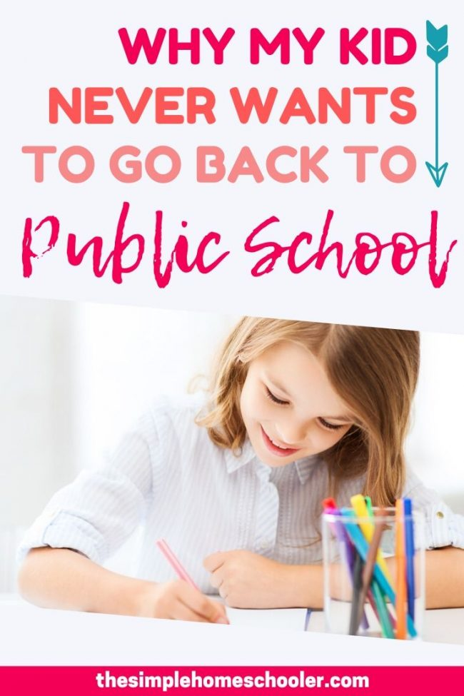 Homeschool vs. Public School is a hotly contested debate for many people. Are you trying to decide how best to educate your children? Not sure if your kids will go for it? Hear my daughter share in this post the benefits of homeschooling and why she never wants to go back to public school. Plus I share tips on how YOU can have a successful homeschool that your kids will love!