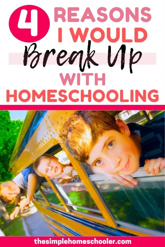 Wondering if it is time to quit homeschooling your kids? Struggling to know what to do? Let me walk you through 4 situations that would cause me to stop homeschooling my kids - but I'll also talk to you through actionable steps I would take BEFORE putting my kids in school. No matter what you choose, I hope to encourage your heart momma and help you through your homeschool struggle.