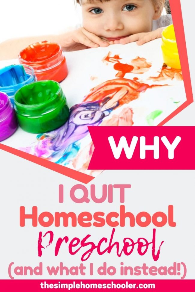 Are you considering homeschool preschool and looking for some good tips? I want to share with you what happened when I started homeschool preschool with my 3 year old, why I quit and boxed it all up, and how my kids are doing years later. You're going to be surprised!
