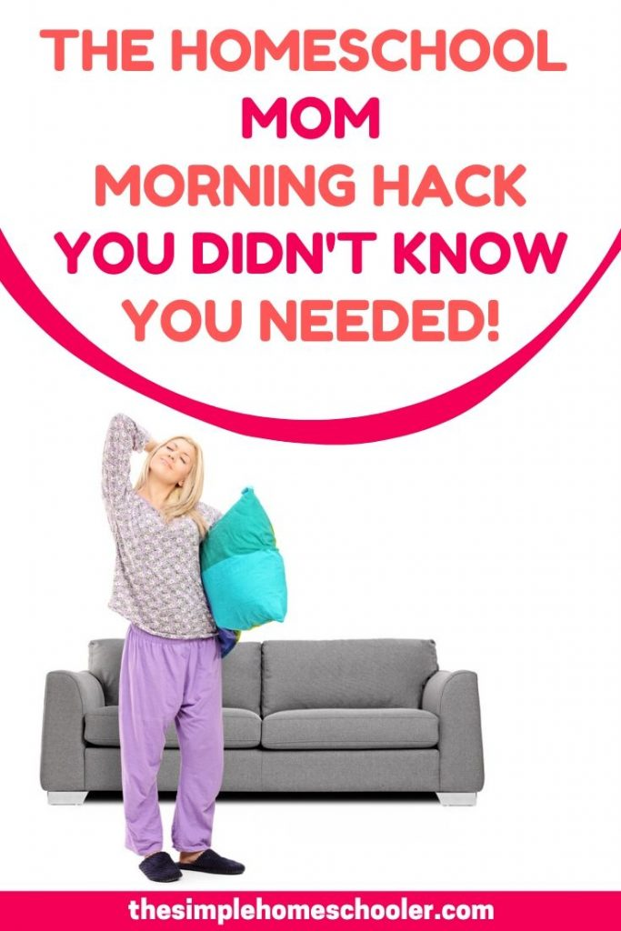 Interested in a homeschool hack that will help streamline your morning? You need to read this! Check out this simple tip has made my mornings oh so much easier. It's a tip I recommend to all my homeschool friends - beginners or seasoned. Check it out!