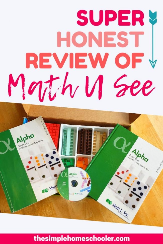 Math U See is such a popular, well loved math curriculum! Check out this review to see how the curriculum works, why the manipulative set is just as awesome as everyone says, what my math hating kid thought of Alpha, and whether we still use it in our homeschool today. I hope this math curriculum review helps your family make the best informed decision for your kids and homeschool!