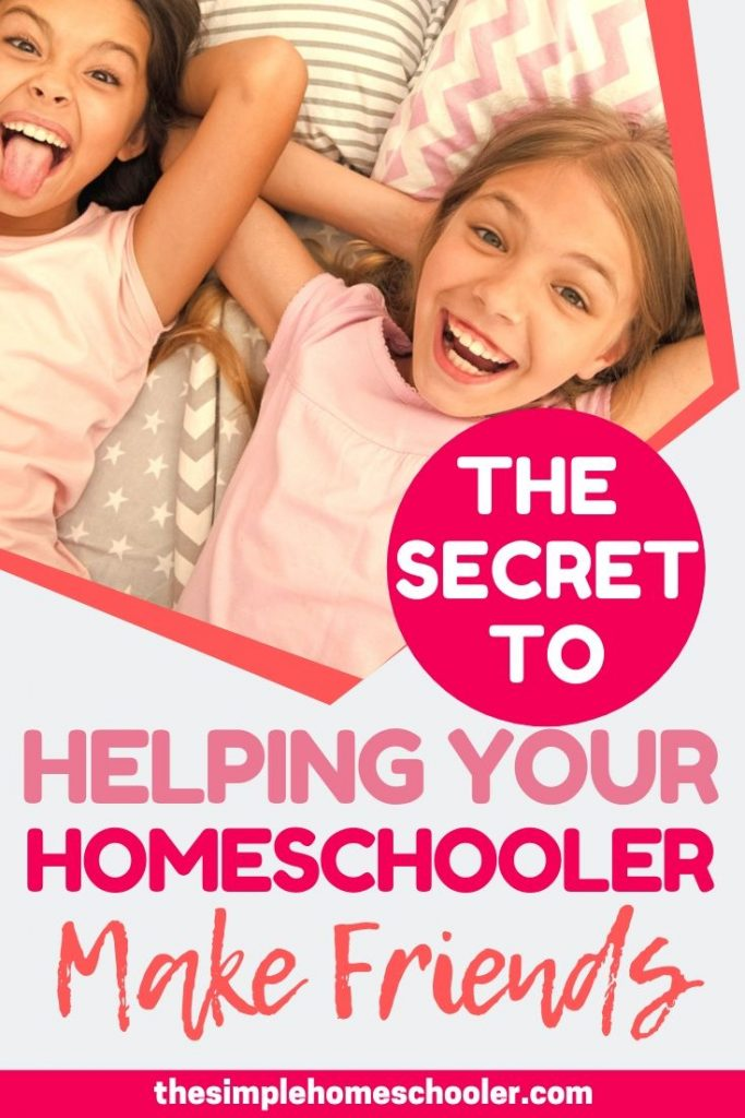 Concerned about socializing your homeschooler? Looking for ideas to help them make friends? Been there! Let me save you time, money, and energy by sharing this awesome strategy I developed to get my children connected in a solid group of friends. It works!