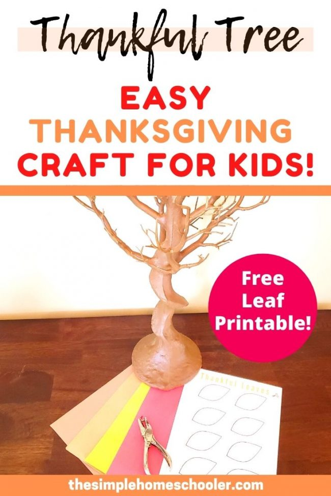 Looking for a simple and easy Thanksgiving craft to make with your kids? This fun craft will encourage your kids to be truly thankful as they decorate a tree with all the things they are thankful for! The Thankful Tree is now one of our Thanksgiving traditions and the centerpiece of your holiday table! Don't miss the free instant download too!