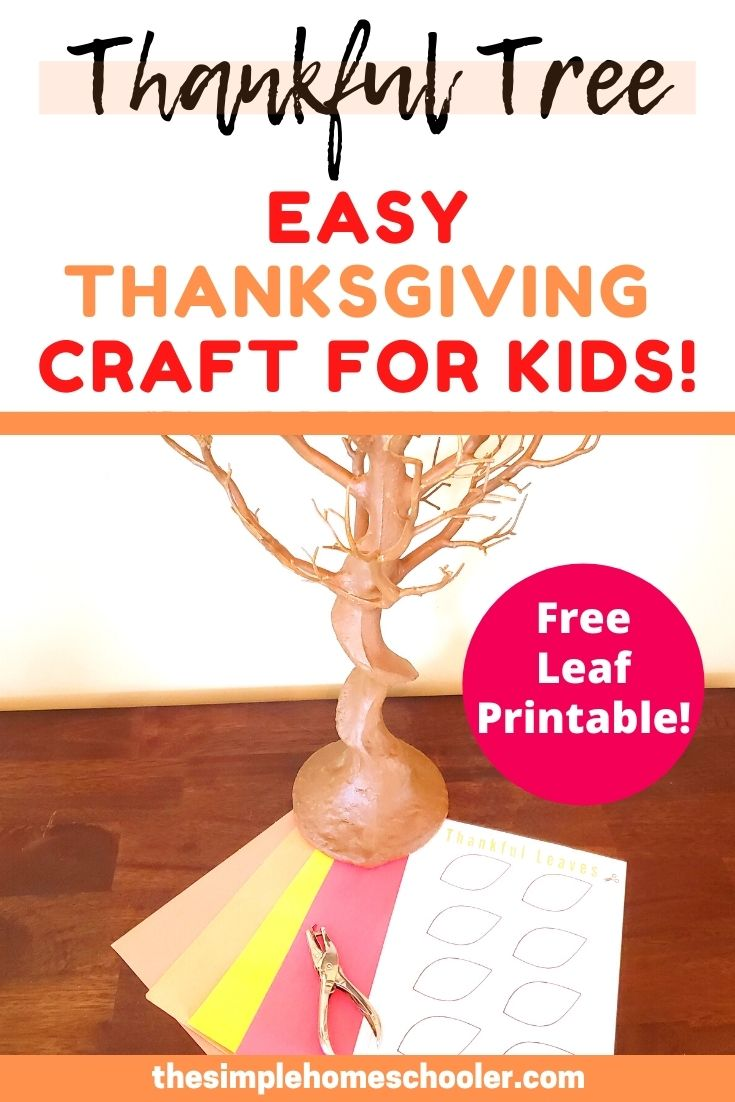 The Best Thanksgiving Craft: A Thankful Tree