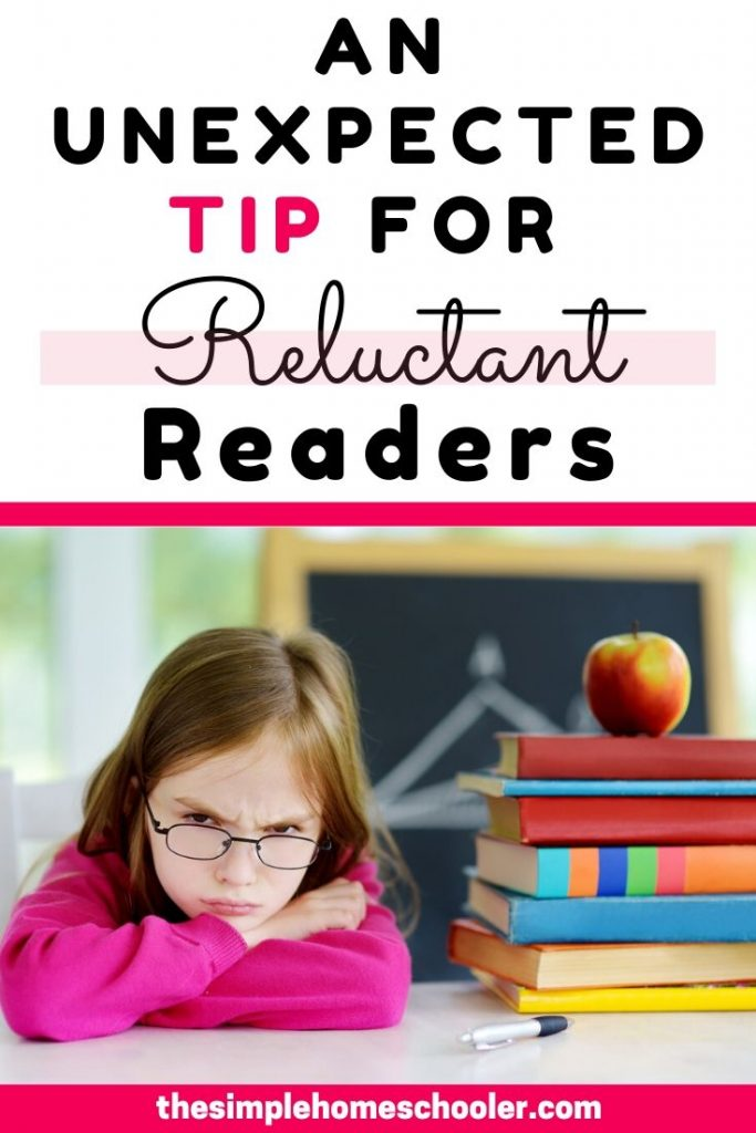Are you struggling with a reluctant reader? I have been there! Let me share the tip that helped my kid jump ahead by 2 reading levels! I think you'll be surprised!