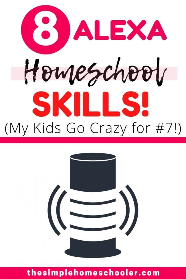 Wondering how to use Amazon Alexa Skills for your homeschool? Your kids will love all the fun games Alexa has to offer! You will love that it is educational and screen free! Be sure to download the free printable so you can remember all of them!