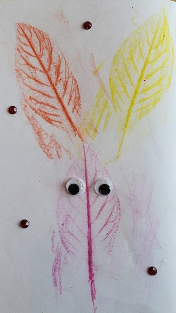 Finished Fall Leaf Craft Activity