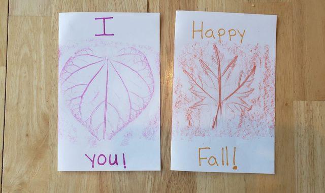 Cute fall leaf craft cards