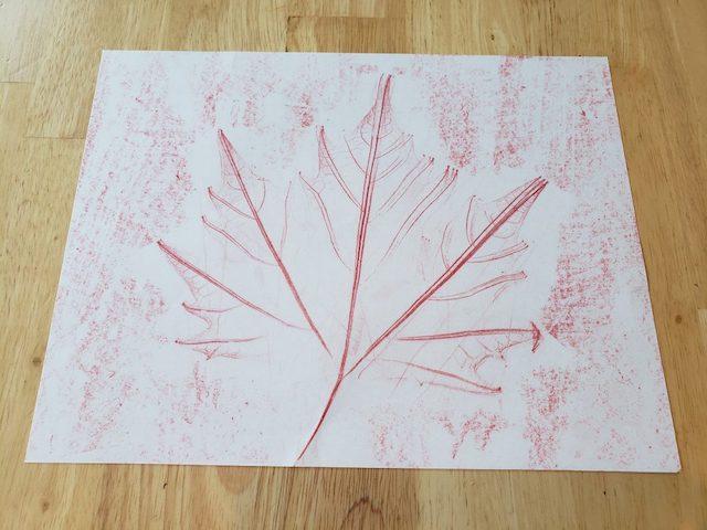 Finished Fall Leaf Craft with Maple Leaf