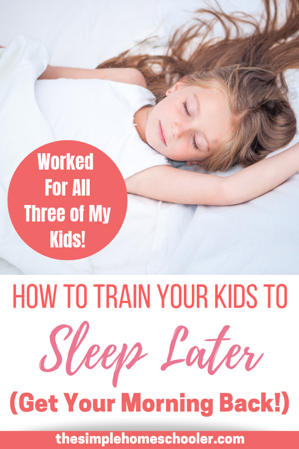 Are you tired of your kids waking up way too early? Do you desperately want a predictable morning time back? Let me show you an incredible sleep hack that trained all three of my kids to wake up at 7am every morning. I have passed this tip down to many friends and family with awesome results! I am excited to share how easy it is to have a peaceful, calm, predictable morning again!