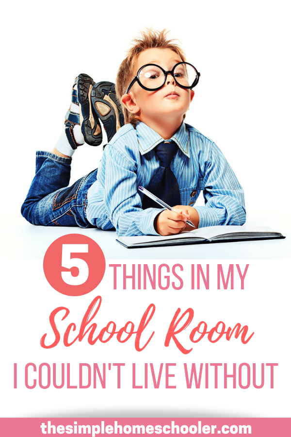 In our 3rd year of homeschooling, I have learned a lot about what is really important for our homeschool and what really isn't. It was a challenge to narrow it down, but check out our top 5 list of must have homeschool room essentials!