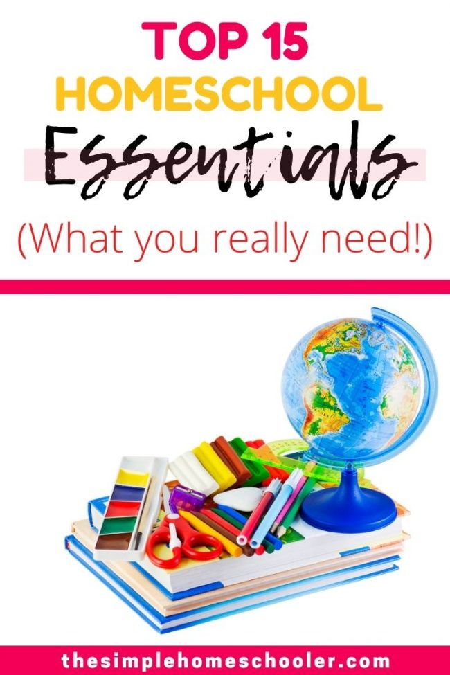 Going into our 5th year of homeschooling, I have learned a lot about what supplies are really important for our homeschool and what really isn't. It was a challenge to narrow it down, but check out our top 15 list of must have homeschool room essentials!