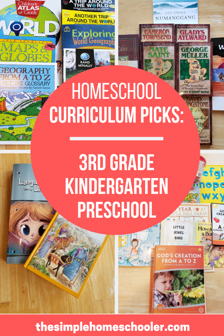 Looking for homeschool curriculum ideas? You have to check out the line up I have for my 3rd grader, kindergartener, and preschooler. We are so excited to start the year!