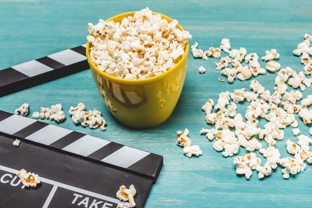 Popcorn and movie for letter of the week
