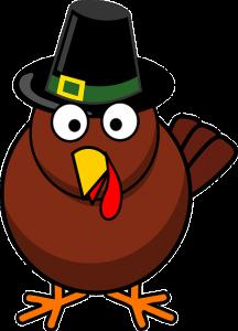turkey with pilgrim hat on