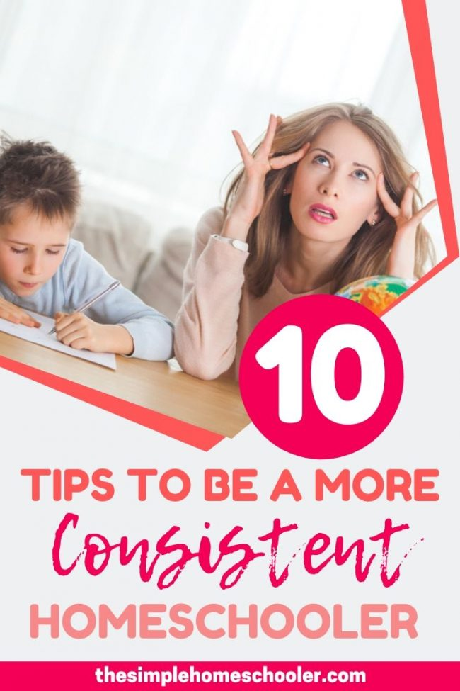 Looking for tips to be more consistent with your homeschooling? You are in the right place! I am excited to share with you all my best tips for staying motivated, energized, and consistent with homeschooling my own 3 kids.