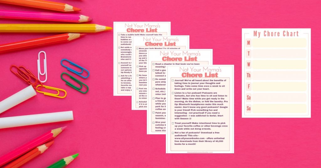 Free Printable tool to help homeschool mom with self care