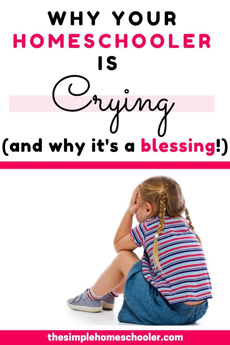 Are you struggling with homeschool tears and frustration? Is homeschool just not working? Find out why the tears are normal, why they happen, how to handle them, and why they are an unexpected blessing!
