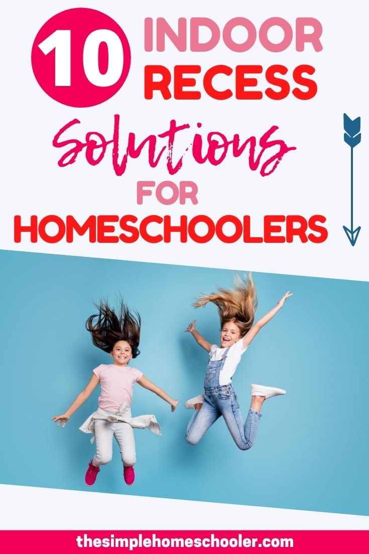 Looking for some indoor recess , movement , and excercise activities for your kids? Check out these 10 options and get your homeschoolers moving!