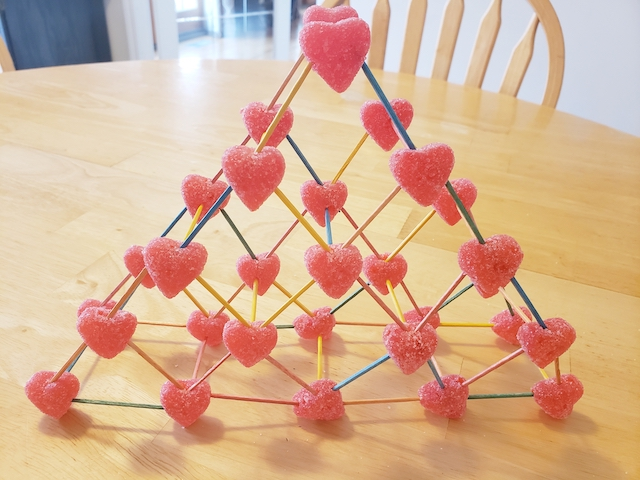 Valentine's Day STEM Activity made out of gummies and toothpicks
