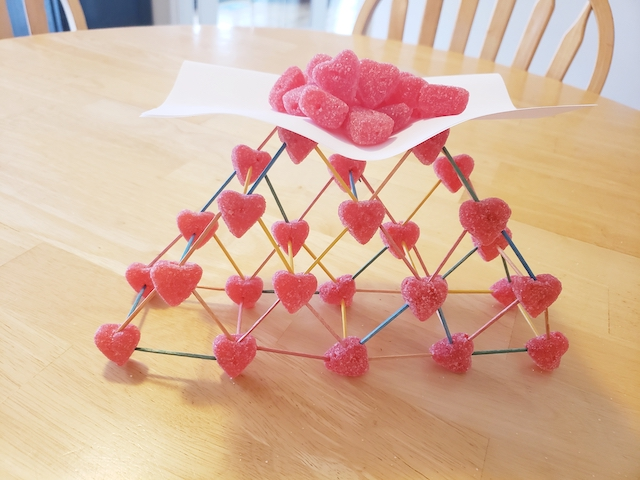 Valentine's Day STEM Project bearing weight