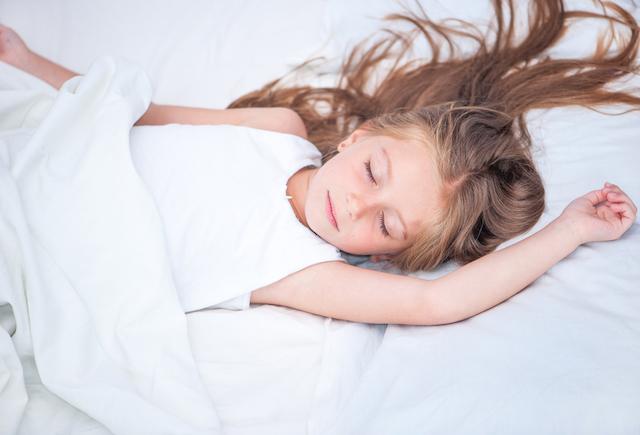 Homeschooler with a healthy weight sleeping in