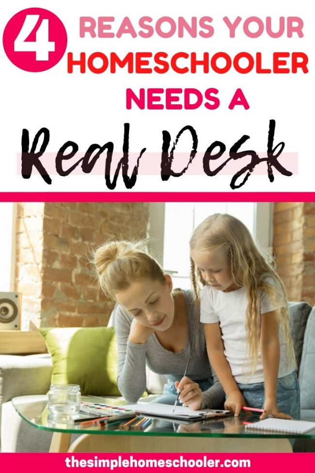 Should you buy your homeschooler a desk? Many would adamantly call a desk for a homeschool room a waste of money - and I used to be one of those people. But Iet me share what has changed my mind this year.