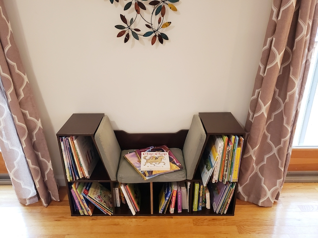 Reading nook for homeschool room