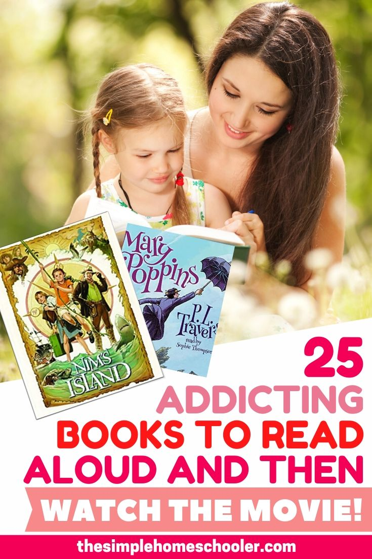Do your kids need a little (maybe a lot of) encouragement to enjoy read aloud time? Everything changed for our homeschool when we started reading books that have been made into movies! Check out this list of our favorites books and enjoy comparing the movie afterwards!