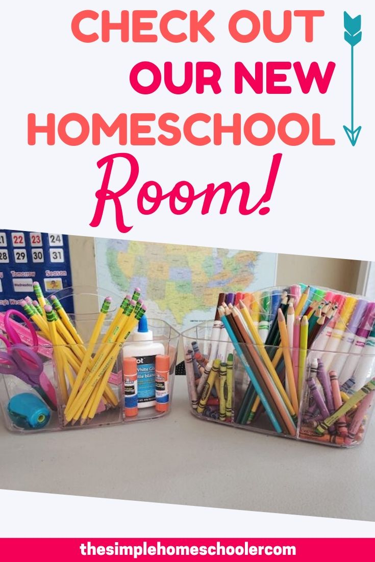We are loving our new homeschool room and I am excited to share how we set it up after our recent move. We went from a small space to something a little bigger, but we still kept it simple and functional. Enjoy the tour!