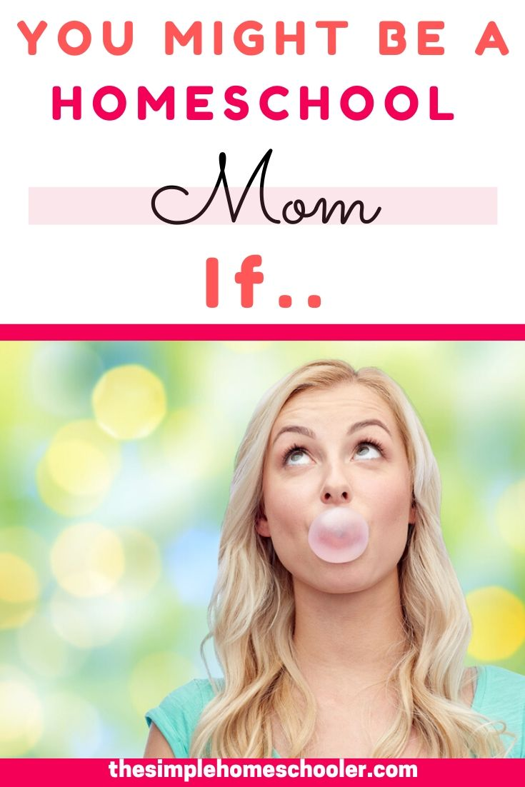 Homeschool moms these days come from all different backgrounds, but there are certain things that unite us! Enjoy the homeschool mom humor and get a good laugh as you see if this post describes your homeschool mom life!