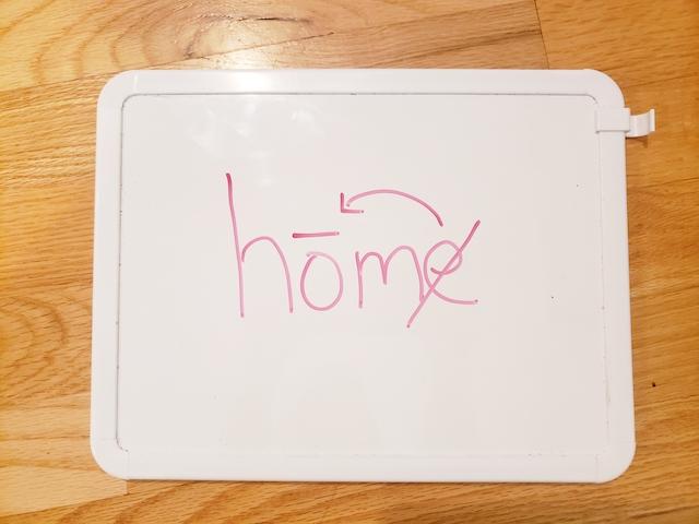 Homeschool hack: mini whiteboards