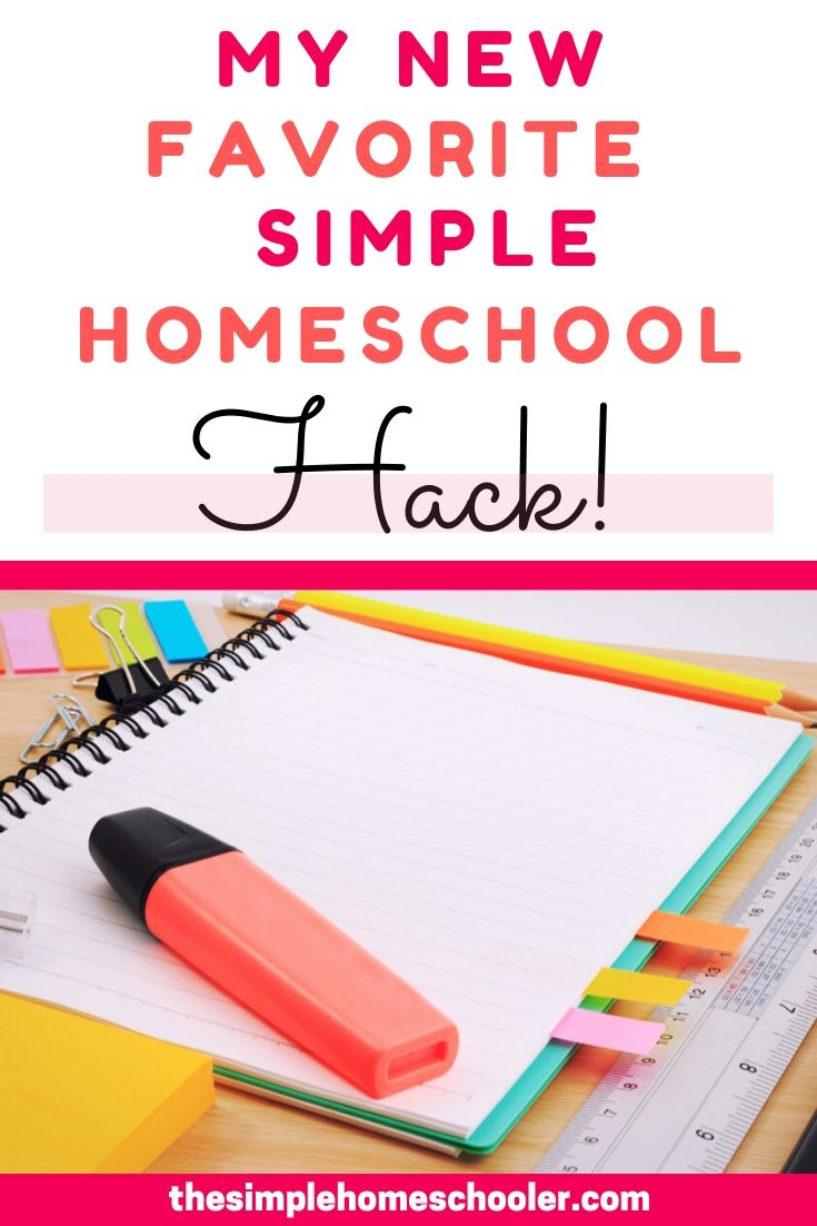 Moms have to use homeschool hacks to survive the wild ride of homeschooling! I am excited to share this simple homeschool hack I stumbled onto that has my kids more excited about school, productive, and most importantly - learning!