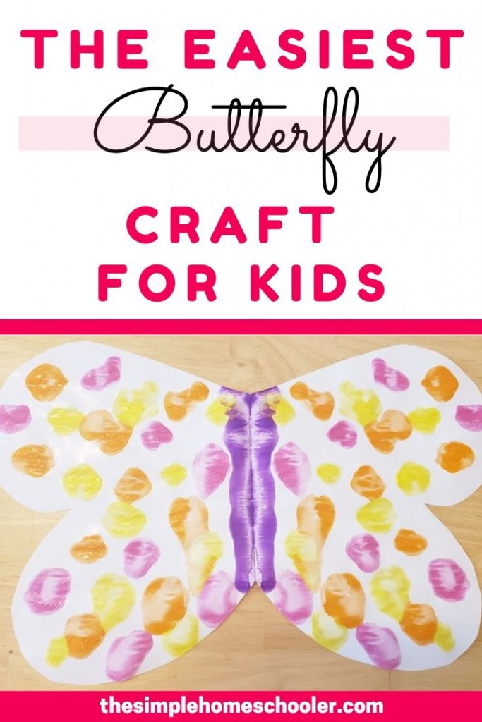 Looking for an easy butterfly craft for kids? This is a simple, fun craft that kids of all ages love! The best part? You probably already have all the supplies!