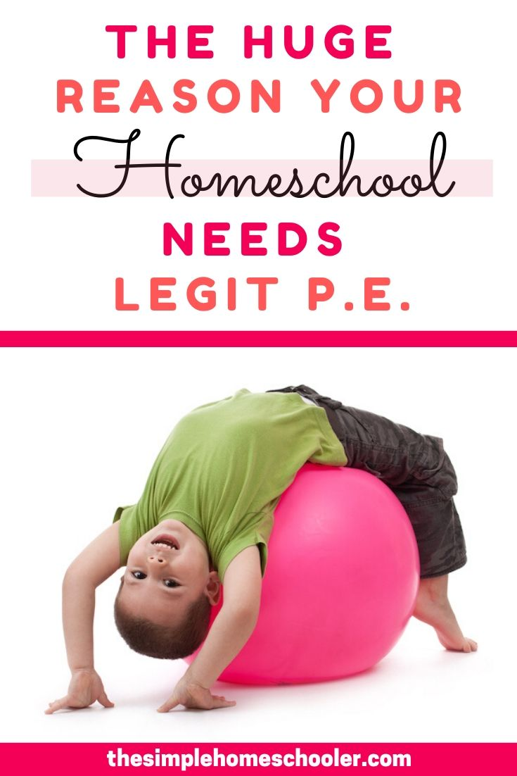 Is homeschool P.E. that big of a deal? Can't you just sign them up for a sport and call it a day? Check out why intentional homeschool P.E. is a huge deal for your kid and how to get started - the quick and easy way -with your own homeschool P.E. today!