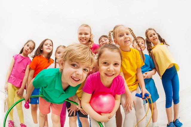Homeschool Kids waiting for P.E. to start