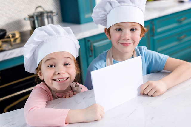 Kids ready to learn how to bake