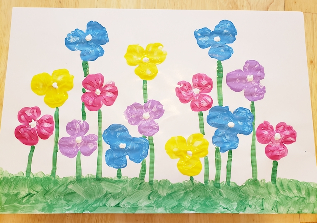 finished easy flower craft for kids
