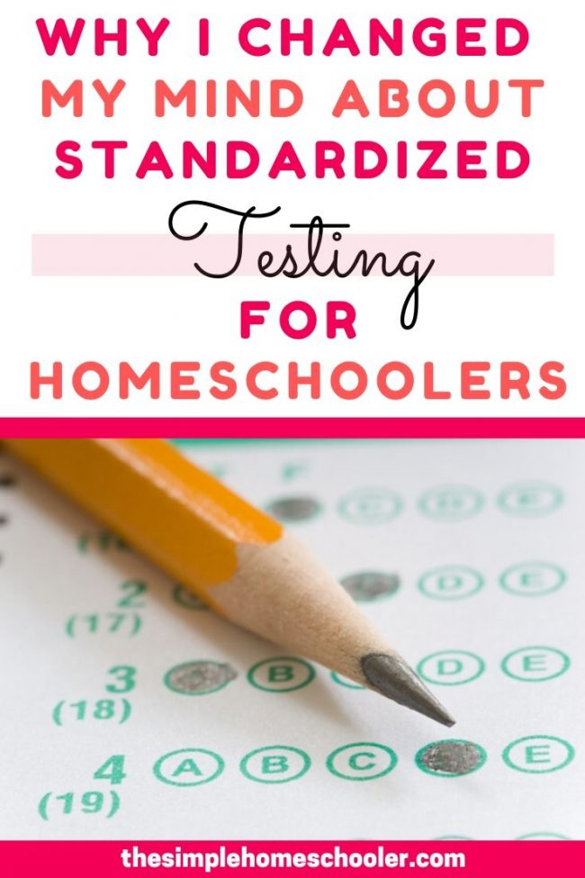Not sure if you should standardized test your homeschoolers? I used to be completely sure I shouldn't! Somethings changed and I have switched my position completely. Click to find out what changed, the pros and cons of testing, and how testing can be used as a tool to benefit your homeschooler - not measure them!