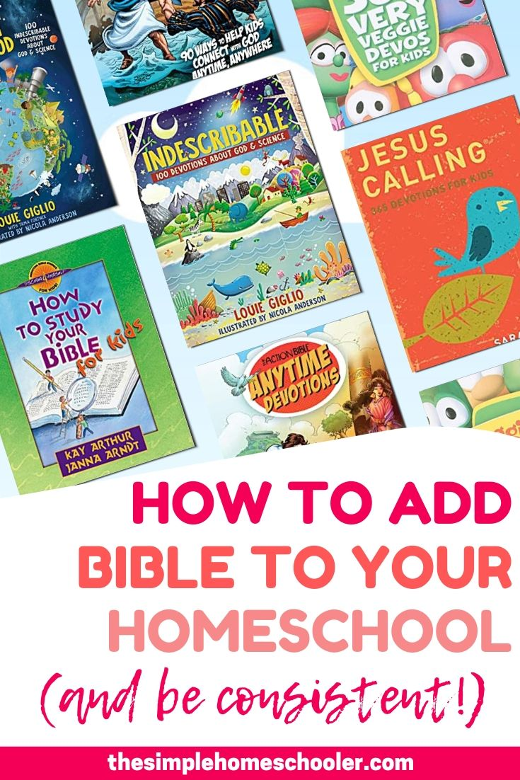 Looking to add Bible lessons to your homeschool curriculum? Or find some new resources for your homeschool devotional time? Check out my top 10 recommendations to explore the Bible in your homeschool and apply God' Word to your kid's life in a meaningful way. Plus check out my top tip to actually stay consistent with your homeschool Bible and prayer time!