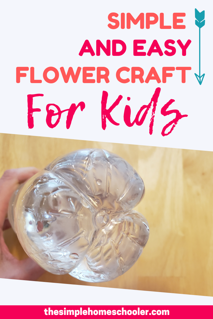 Easy Flower Craft For Kids with Water Bottle Stamping!