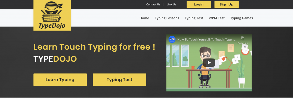 Free typing lessons from typingdojo