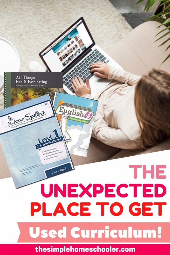 It can be really difficult to get a good price on used homeschool curriculum when you're on a budget. It is time consuming and energy draining to hunt the internet for the right grade level and edition - for every piece of homeschool curriculum you need...for every child you are homeschooling. I stumbled onto a super easy option that will save you money, time, and energy while putting high quality used homeschool curriculum in your hand in record time. I only wish I would hav found this hack sooner!